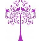 Muursticker - Bloemetjesboom